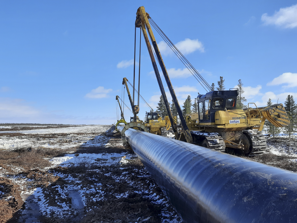 construction of gaspipeline crossing
